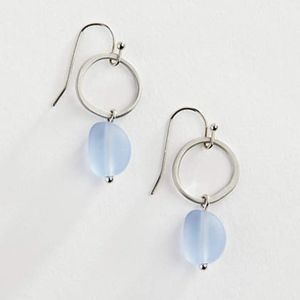 J.Jill - Perfect Indigo Seaglass Drop Earrings
